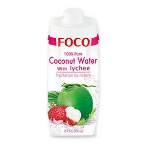Foco Kokoswater - 100% Puur - Lychee 330ml