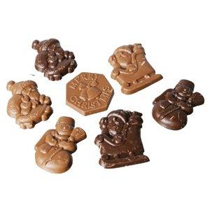 """Wiloco Chocolade kerstfiguurtjes """"Puur"""" 150g 20st"""