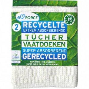 Ecoforce Allesdoekjes gewatteerd gerecycled 2 st