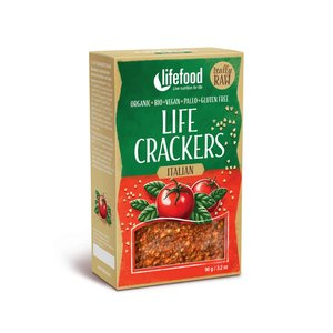 LifeFood Crackers - Italiaans - 90g