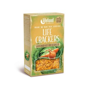LifeFood Crackers - Boekweit-Zuurkool - 90g