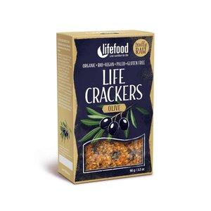 LifeFood Crackers - Olijf - 90g
