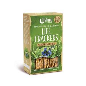LifeFood Crackers - Chia-Zuurkool - 60g