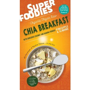 SuperFoodies Chia breakfast Ananas-Amandel - 200g - UHD 01-11-2017