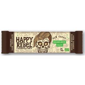 Happy Rebel Hazelnut Goji 81% cacoa - 38g