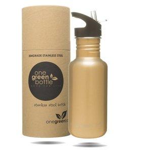 One Green Bottle  Tough Canteen Gold met Quench cap - 500ml