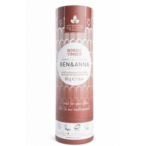 Ben & Anna Nordic Timber natuurlijke soda deodorant stick