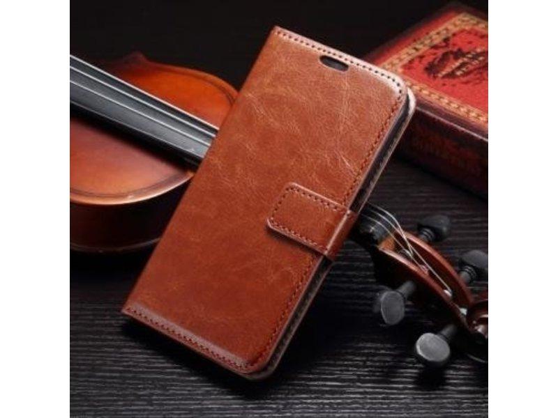Wallet Book Case Bruin Samsung Galaxy S7