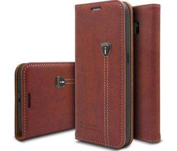iHosen Bordeaux Rood Leren Hoesje Samsung Galaxy S6 Edge