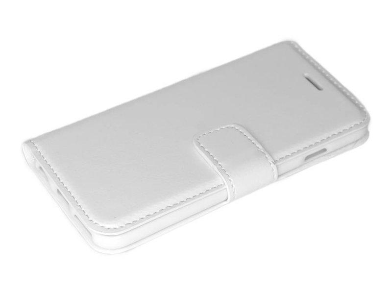Wit luxe flip case Samsung Galaxy S6 Edge