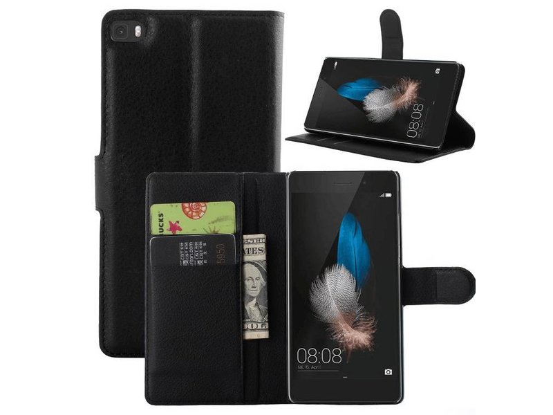 Luxe leren flip case Huawei P8 Lite