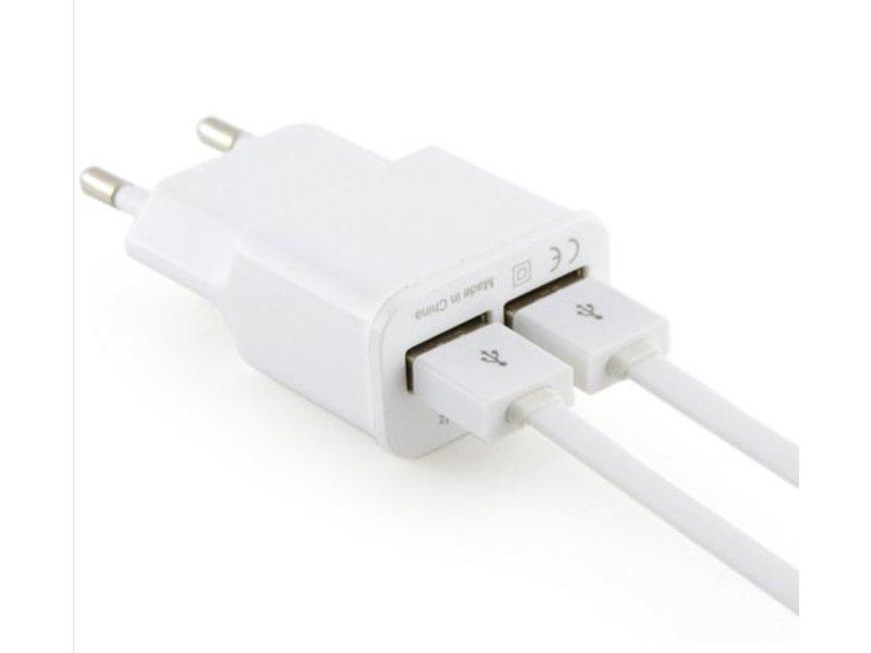 Wall adapter met 2 usb aansluitingen