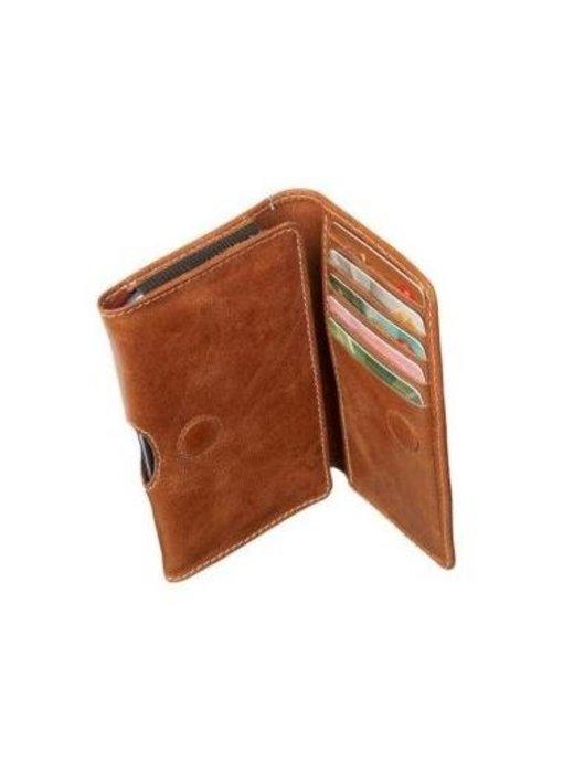 DBramante1928 Leather Wallet Case Golden Tan voor Apple iPhone 4/4S