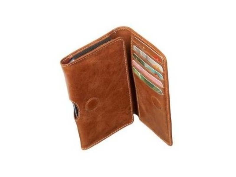 DBramante1928 DBramante1928 Leather Wallet Case Golden Tan voor Apple iPhone 4/4S