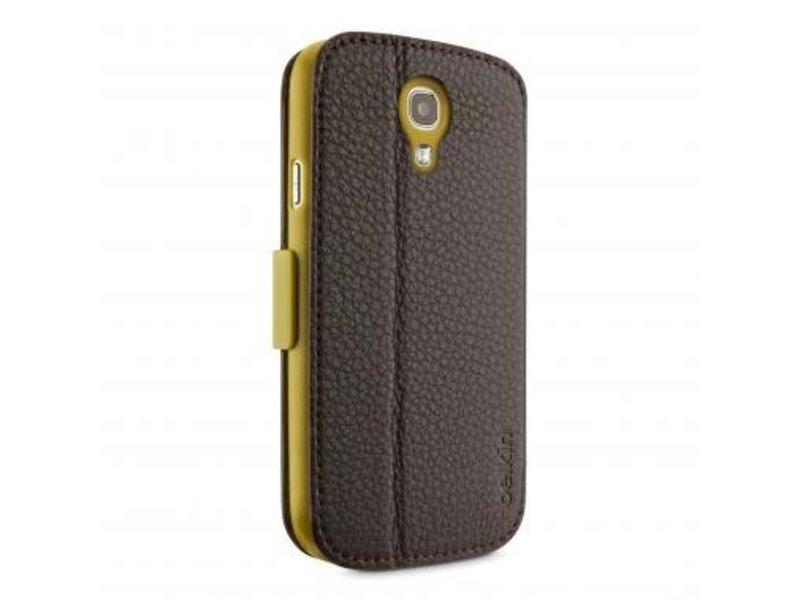 Belkin Belkin Premium Wallet Folio Case Donker Bruin voor Samsung Galaxy S4