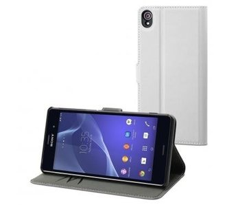 Muvit Wallet Case Wit Voor Sony Xperia Z3