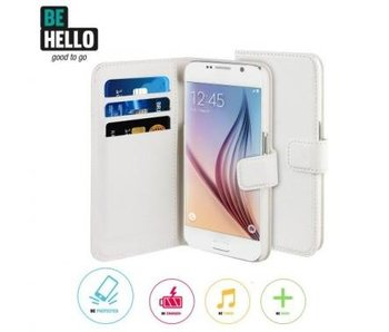 BeHello Wallet Case Wit voor Samsung Galaxy S6 Edge