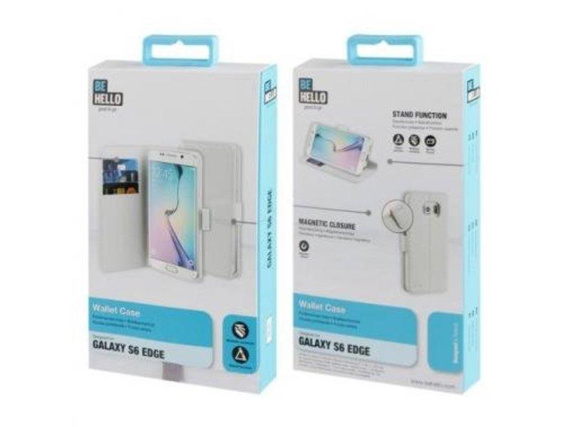 BeHello BeHello Wallet Case Wit voor Samsung Galaxy S6 Edge