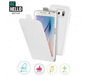 BeHello 2 in 1 Wallet Flip Case Wit voor Samsung Galaxy S6