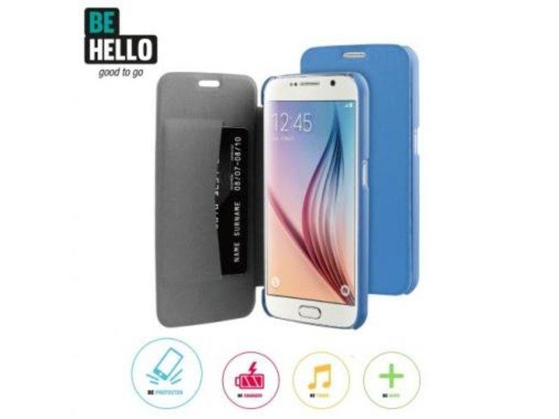 BeHello BeHello Book Case Blauw voor Samsung Galaxy S6