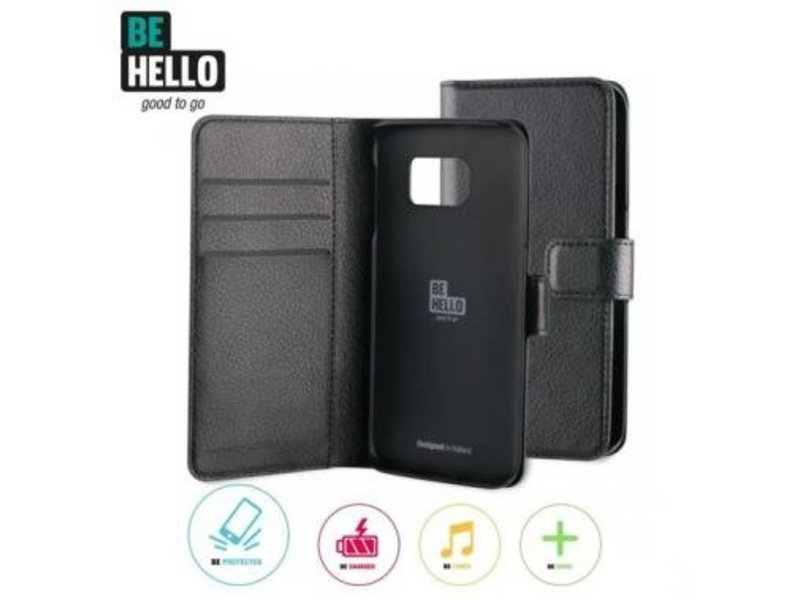 BeHello BeHello Wallet Case Zwart voor Samsung Galaxy S6