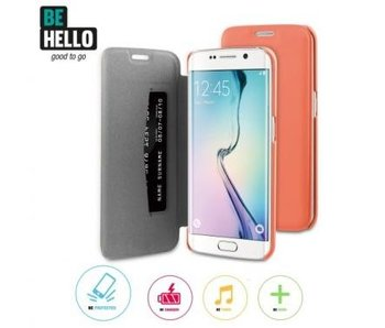 BeHello Book Case Coral voor Samsung Galaxy S6 Edge