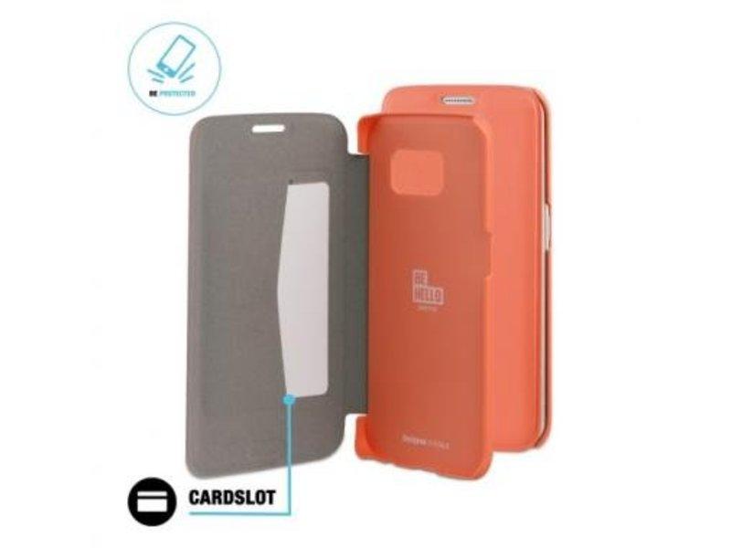 BeHello BeHello Book Case Coral voor Samsung Galaxy S6 Edge
