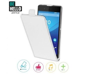 BeHello Wallet Flip Case Wit voor Sony Xperia Z3 Plus