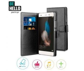 BeHello Wallet Case Zwart voor Huawei P8 Lite