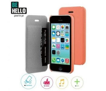BeHello Book Case Coral voor Apple iPhone 5C