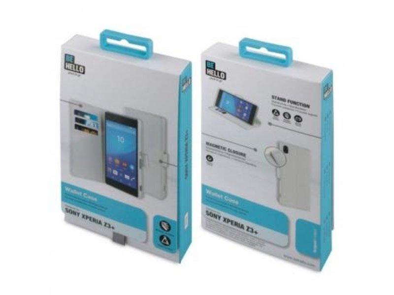 BeHello BeHello Wallet Case Wit Voor Sony Xperia Z3 Plus