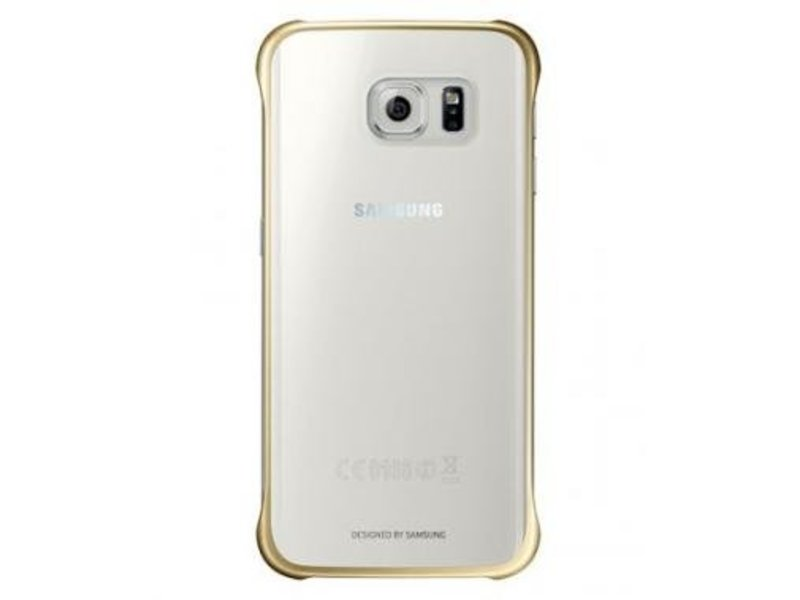 Samsung Samsung Clear Cover Goud voor Samsung Galaxy S6 Edge+