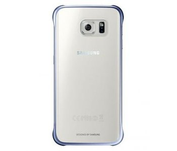 Samsung Clear Cover Blauw voor Samsung Galaxy S6 Edge+