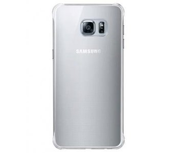 Samsung Glossy Cover Zilver voor Samsung Galaxy S6 Edge+