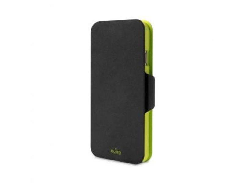 Puro Puro BiColor Wallet Case Zwart/Groen voor Apple iPhone 6 Plus/6S Plus