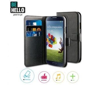 BeHello Wallet Case Zwart voor Samsung Galaxy S4