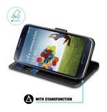 BeHello BeHello Wallet Case Zwart voor Samsung Galaxy S4
