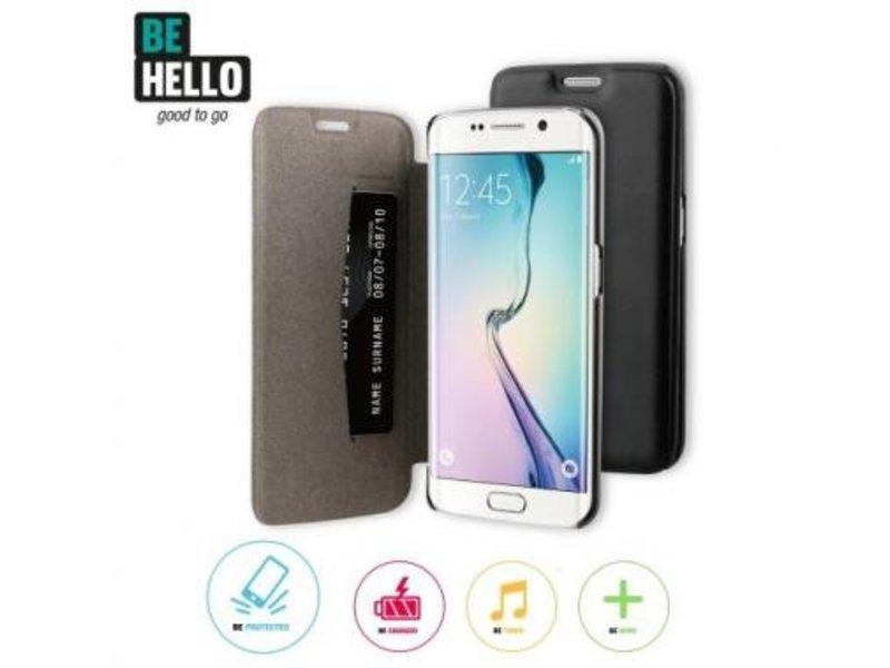 BeHello BeHello Book Case Zwart voor Samsung Galaxy S6 Edge