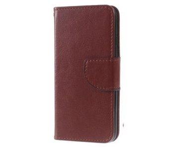 Wallet Book Case Bruin voor Apple iPhone 7