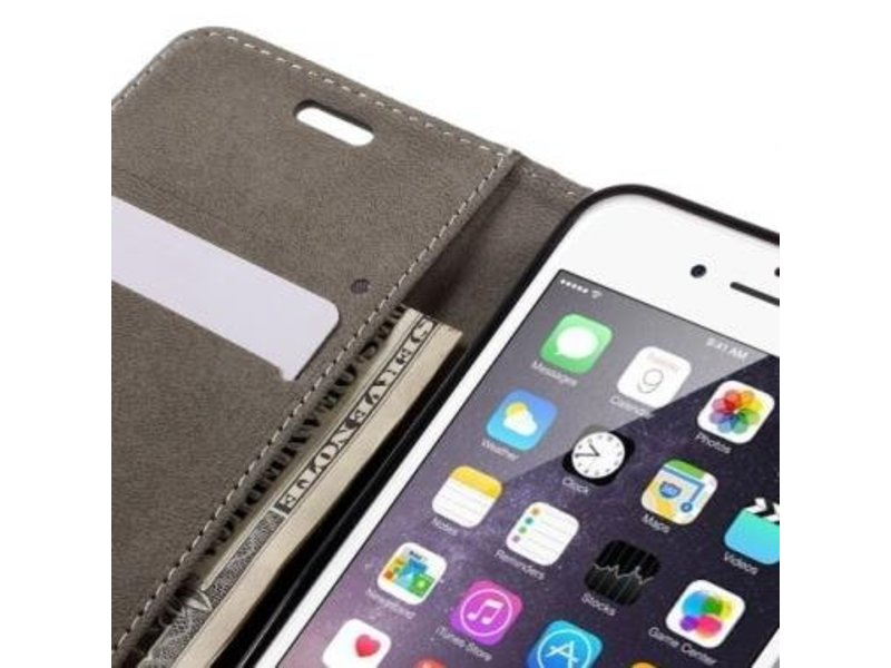 Wallet Book Case Zwart voor Apple iPhone 7/8