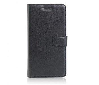 Wallet Book Case Litchi Zwart voor Apple iPhone 7 Plus