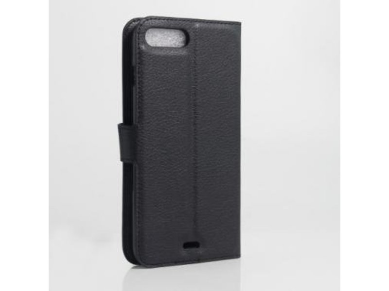 Wallet Book Case Litchi Zwart voor Apple iPhone 7/8 Plus