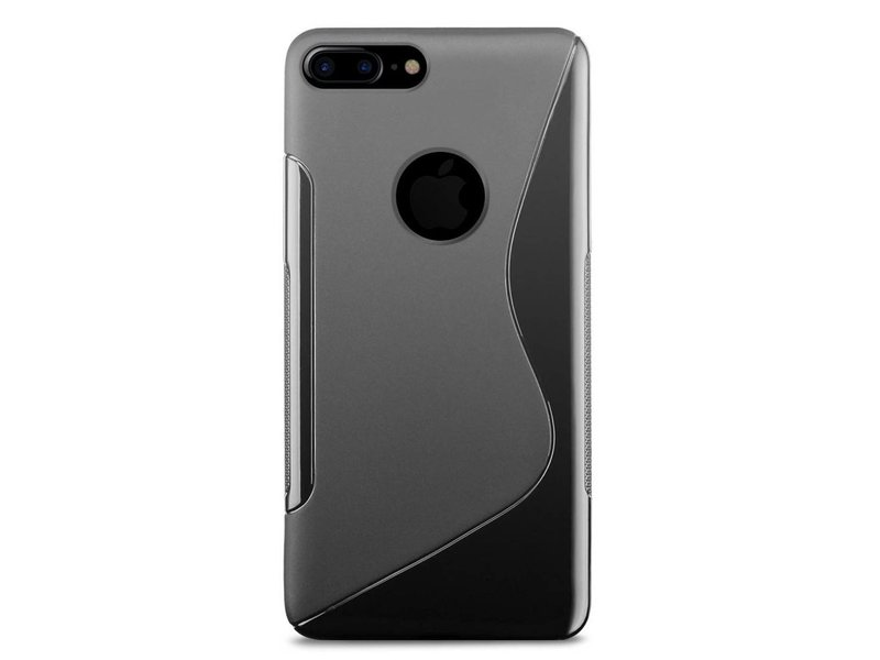 Just in Case Just in Case Apple iPhone 7 Plus S-Style TPU case (Black)