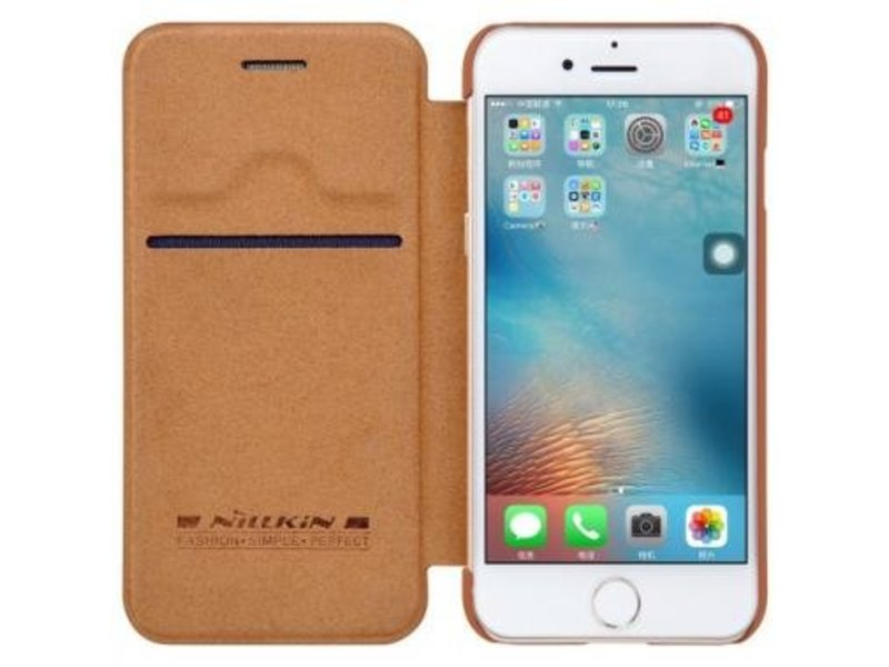Nillkin Nillkin QIN Wallet Book Case Bruin Apple iPhone 7/8