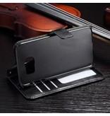 Wallet Book Case Zwart voor Samsung Galaxy S7 Edge