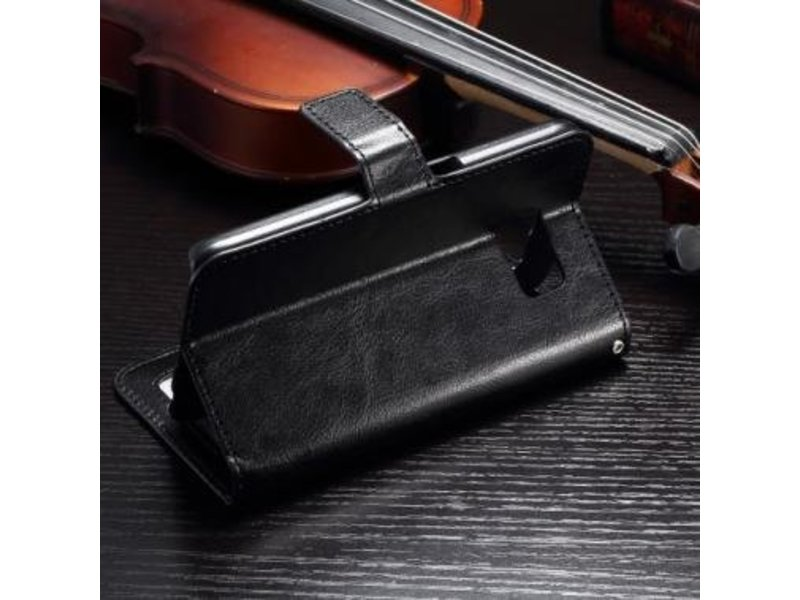 Mobiware Wallet Book Case Zwart voor Samsung Galaxy S7 Edge