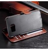 Mobiware Wallet Book Case Bruin voor Samsung Galaxy S7 Edge