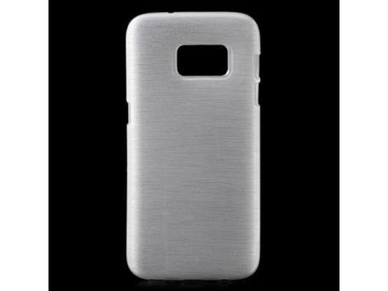 Mobiware TPU Case Brushed Wit voor Samsung Galaxy S7