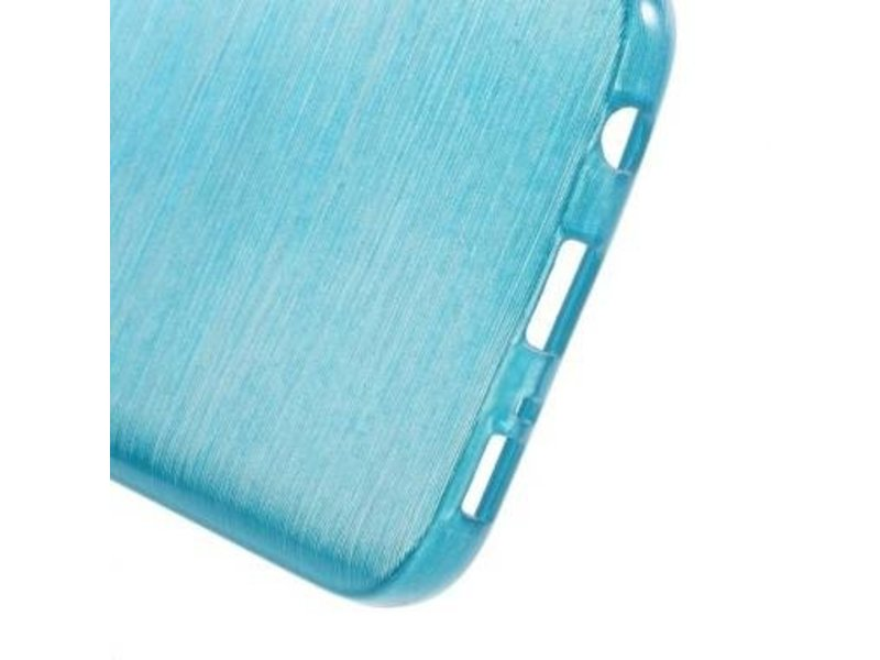 TPU Case Brushed Blauw voor Samsung Galaxy S7