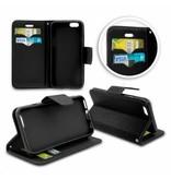 Mobiware Wallet Book Case Zwart voor Huawei P10